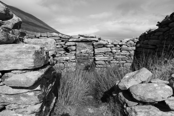 The deserted village, Achill Island