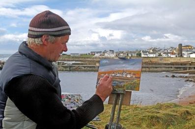 Tory Island artist (Photo: Kirsti MacDonald Jareg)